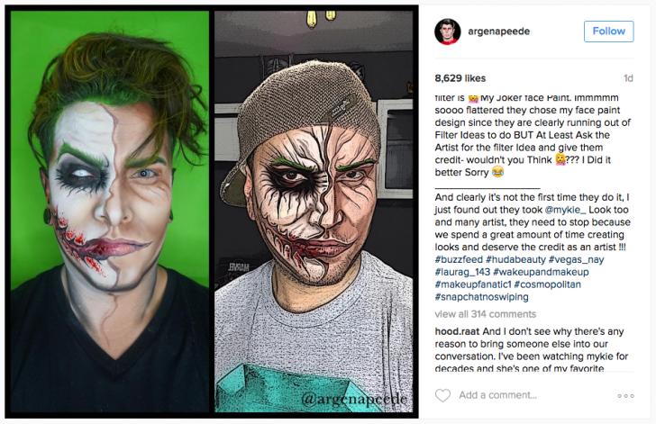 Snapchat, Filtrelerini Makyaj Sanatçılarından Çalıyor Olabilir mi?