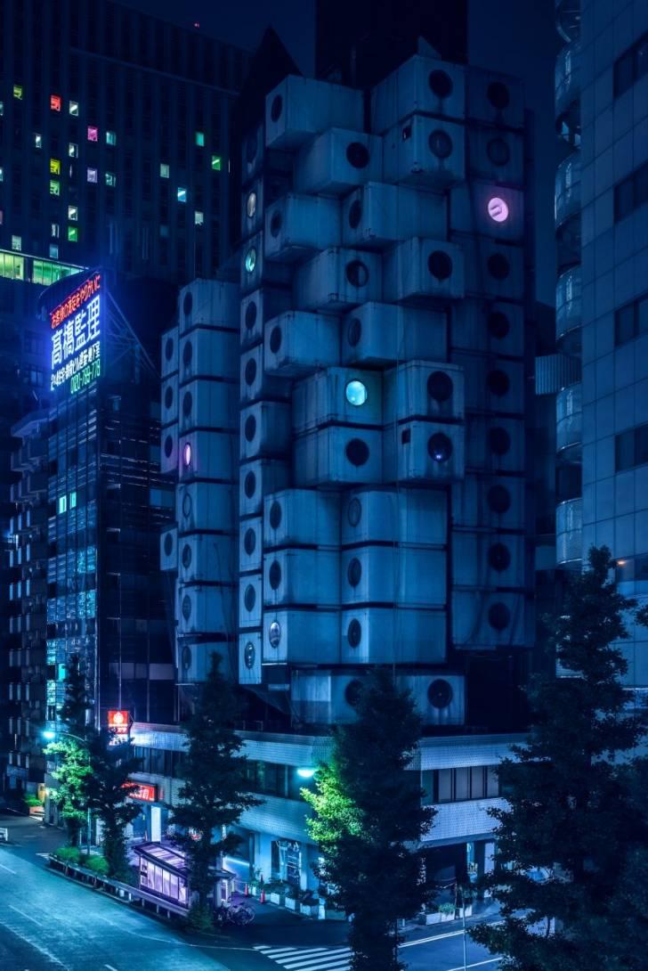 """Tokyo'da Çekilen """"Blade Runner-vari"""" Mimari Fotoğraflar"""