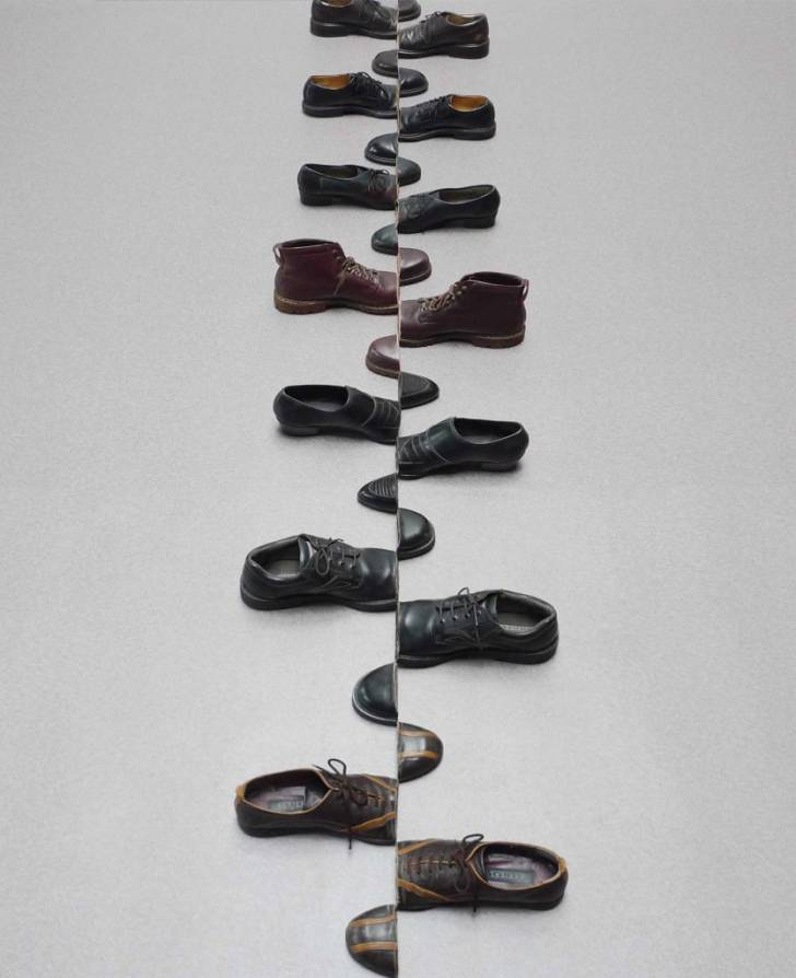 Şakir Gökçebağ'ın, Sanat Eserine Dönüştürülmüş Ayakkabılar Sergisinden 10 Fotoğraf