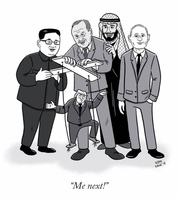 The New Yorker dergisinin, ses getirecek Erdoğan'lı Trump'lı karikatürü