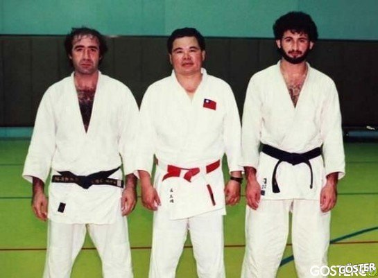 Osama Bin Laden after practicing judo