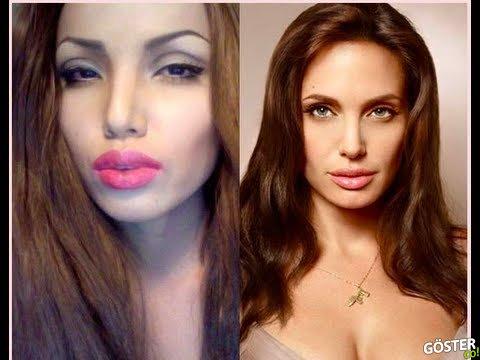 Makyaj ile Angelina Jolie'ye Dönüşen Kadın