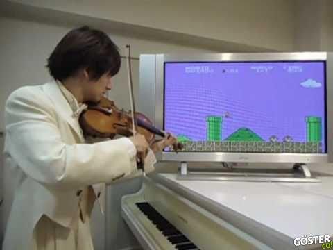 Keman ile Super Mario Müziklerini Çalan Adam