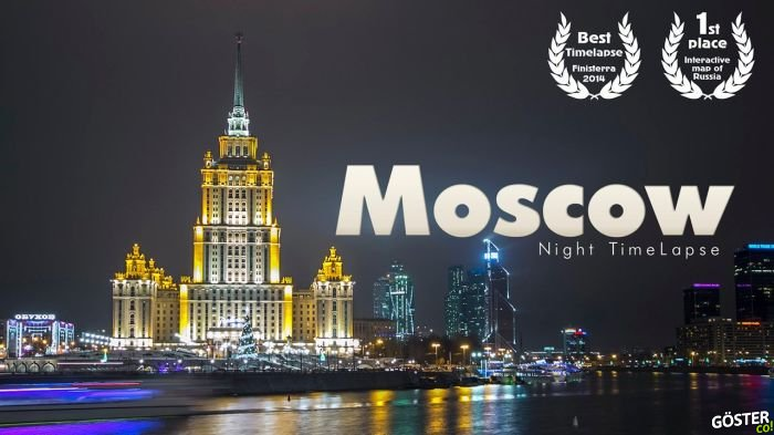 Kirill Neiezhmakov'un Ödüllü Moskova Timelapse'i