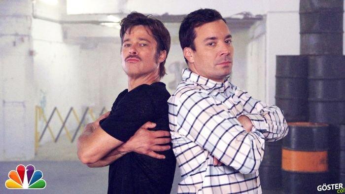 Brad Pitt ile Jimmy Fallon'ın Break Dans Kapışması