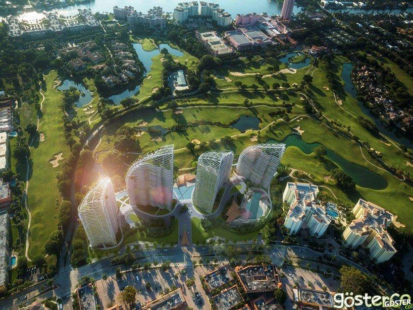 Daniel Libeskind'ın Tasarladığı 4 Kuleli Yaşam Alanı