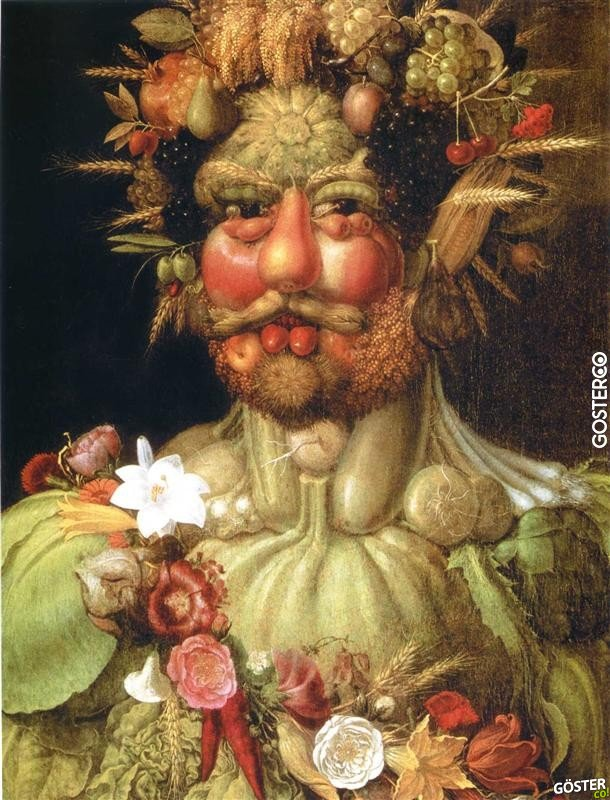 """İtalyan Ressam Giuseppe Arcimboldo'nun """"500 Sene Önce"""" Çizdiği 25 Resim"""
