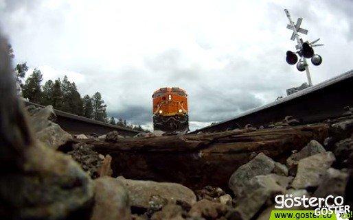 GoPro'yu Tren Yoluna Yerleştirirsek Ne Olur?