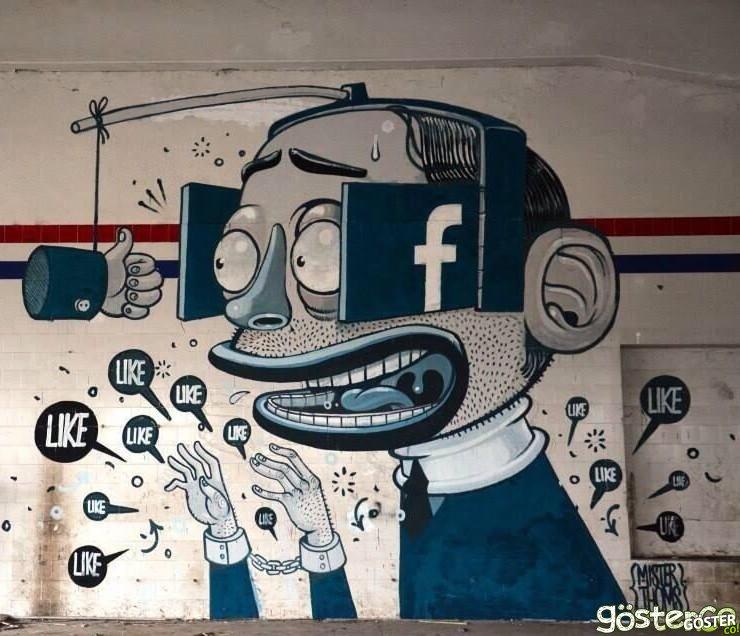 19 Düşündürücü Sanatsal Graffiti ve Politik Karikatür