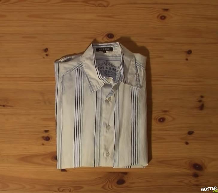 2-3 Saniyede Tişört ve Gömlek Katlama Yöntemi