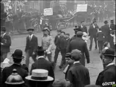 Manchester Sokaklarından 1901 Yılına Ait İç Burkan Hareketli Görüntüler