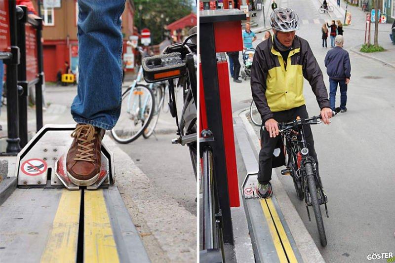 Norveç'teki Tasarım Harikası Bisiklet Yürüyen Merdiveni