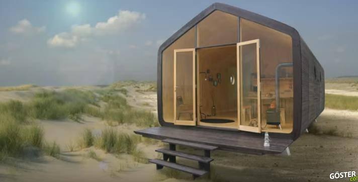 Kartondan Yapılan ve 50 Yıldan Fazla Dayanabilen Modüler Mikro Ev