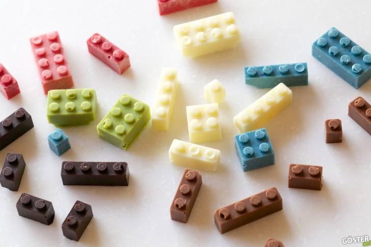 Yenilebilir (Çikolatadan) Legolar ve Bir Takım İnşaa Denemeleri