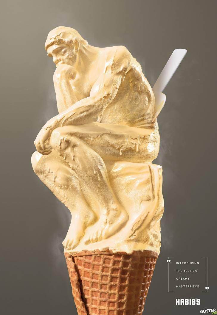 El Yapımı Dondurma Üreten Marka için Hazırlanan Zekice Posterler