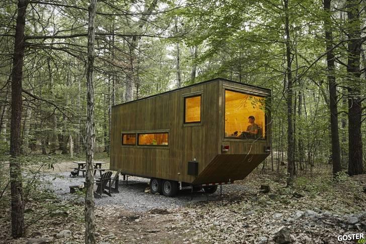 Hafta Sonu Kaçamağı için Ormanın Ortasında Minik Sevimli Evler