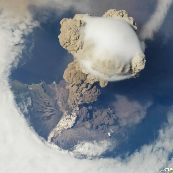 Uluslararası Uzay İstasyonu'ndan Sarychev Volkan Patlaması