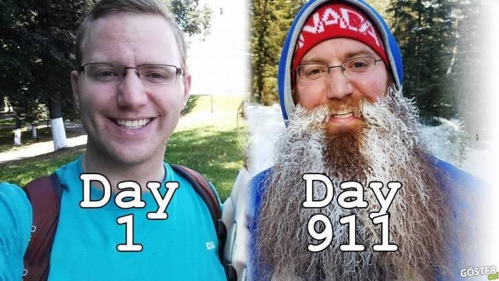 911 Günlük Sakal Uzatma Rekor Denemesi Timelapse'i