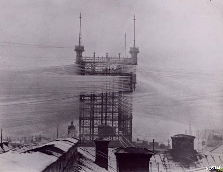 100 Yıl Önce, Stockholm'deki Telefon Kulesine Tam 5500 Kablo Bağlıydı