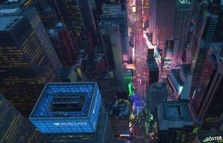New York Şehri'nin Tepesinden, 12K Görüntü Kalitesi ile Kaydedilen Video