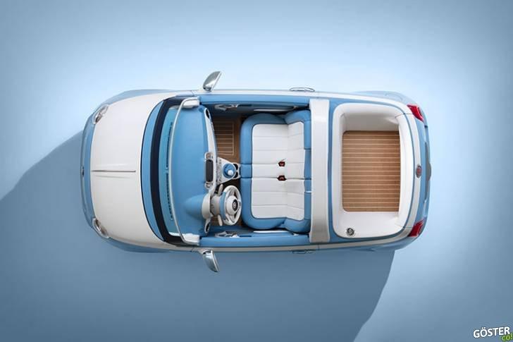 Garaj İtalya'dan Sevimli Plaj Arabası Fiat 500 Spiaggina