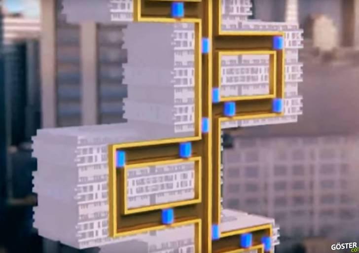 """İleri Teknoloji Asansör: Manyetik levitasyonla çalışıyor, halatsız ve """"yana doğru"""" da hareket edebiliyor"""