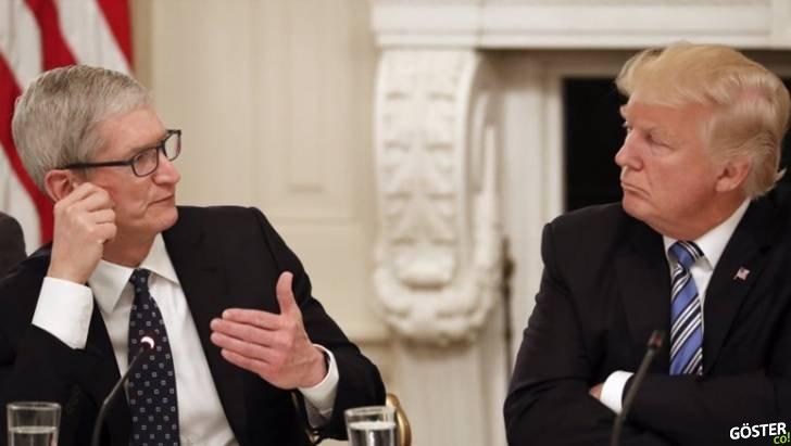 """ABD Başkanı Donald Trump, Apple CEO'su Tim Cook'a Yanlışlıkla """"Tim Apple"""" Dedi"""
