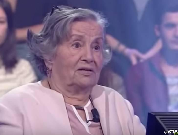 """Ekran başındakilerin hayran kaldığı, 85 yaşındaki """"Milyoner"""" yarışması yarışmacısı Zeynep Teyze"""