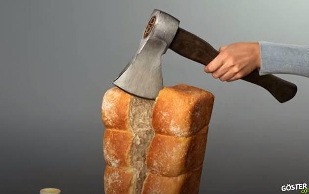 Yumurtaya kurşun sıkan, ekmeği baltayla kesen fotoğrafçı