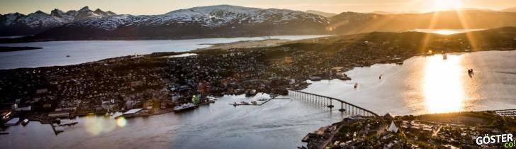 Midnight sun in Tromsø, Norway