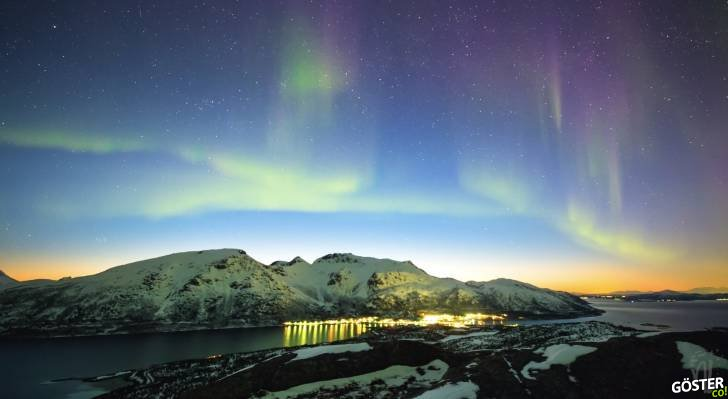 İlkbahar'da kaydedilmiş Kuzey Işıkları'nın ihtişamı