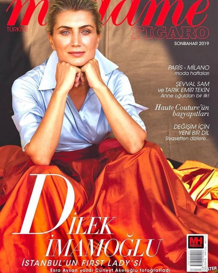 Dilek İmamoğlu, dünyaca ünlü moda dergisi Madame Figaro'ya kapak oldu