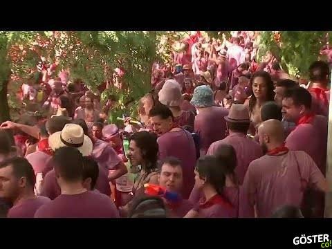 İspanya'da 'şarap savaşı' partisinde 70 bin litre şarap cephane oldu