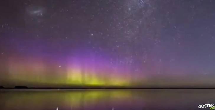 """Kuzey Işıkları'nın rakibi: Güney ışıkları olarak bilinen """"Aurora Australis"""""""