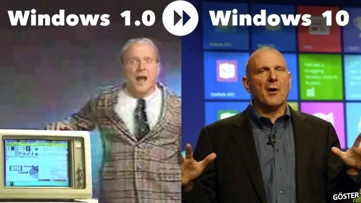 Windows 1'den Windows 10'a, Windows reklamlarının evrimi