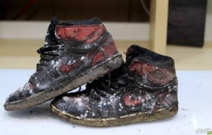 Ahı gitmiş vahı kalmış 2011 Air Jordan ayakkabıyı restore edip ilk günkü haline çevirdiler