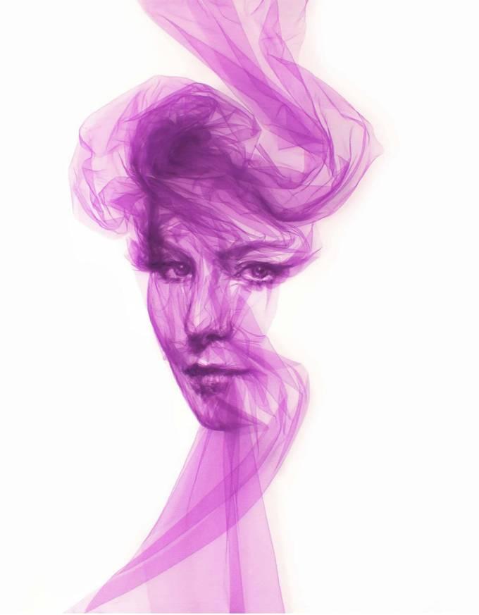 Benjamin Shine: Tüllerle kadın portreleri ortaya çıkaran sanatçının asıl amacı ne?