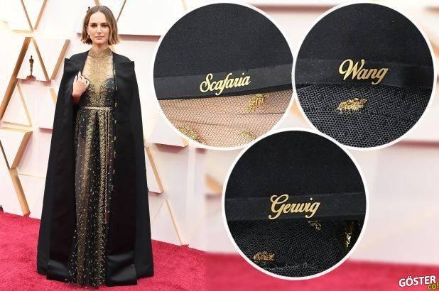 """Natalie Portman, Oscars 2020'de görmezden gelinen, aday gösterilmeyen kadın yönetmenlerin adını """"pelerinine işledi"""""""