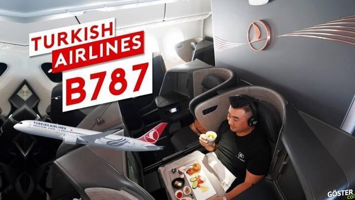 Türk Hava Yolları'nın yeni uçağı B787 Dreamliner'ın içi ve İstanbul Havaalanı lounge görüntüleri