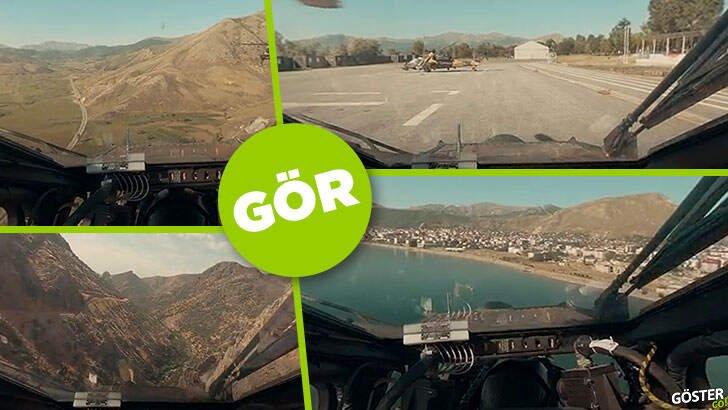 Atak helikopterinin kokpitinden 360 derece gerçek operasyon görüntüleri (interaktif video)