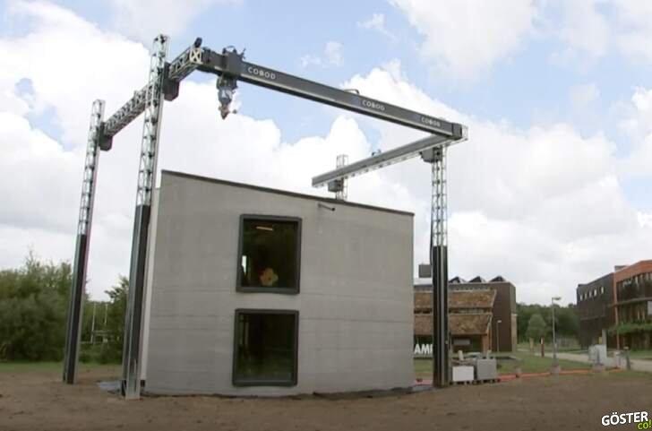 Belçika'da inşaat ustasına ihtiyaç olmadan 3D yazıcı ile 2 katlı ev inşa edildi