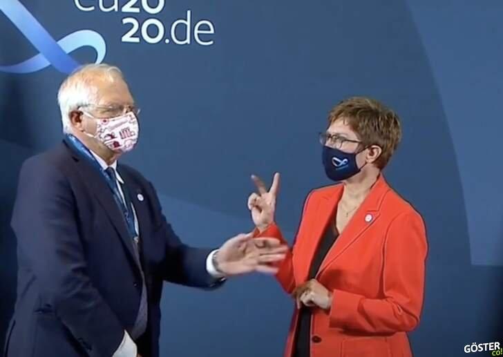 Almanya Savunma Bakanı, Türkiye'yi çekiştirirken açık olan mikrofonlara yakalandı