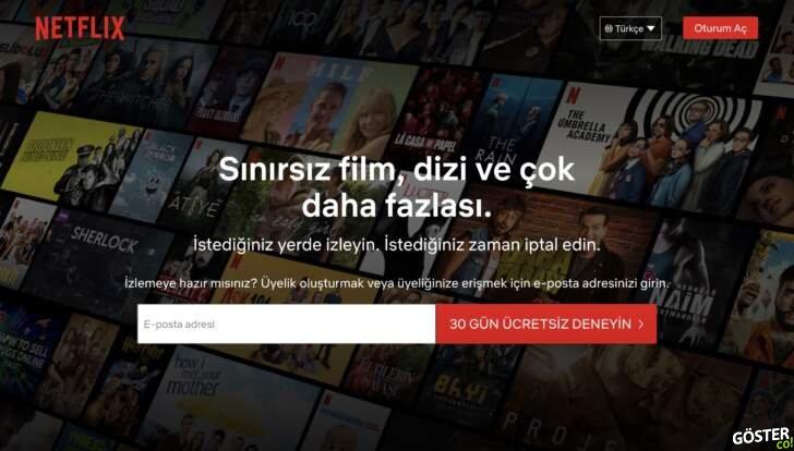 Netflix, Türkiye'de kapattığı 30 günlük deneme süresi uygulamasını tekrar aktif hale getirdi