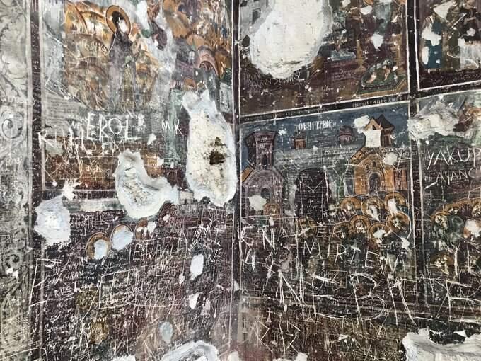 Sümela Manastırı'nın son halinin fotoğraflarında görünen tahribat şaşkınlık yarattı