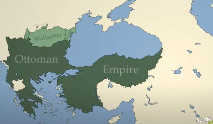 1281-2020 yılları arası Osmanlı İmparatorluğu ve Türkiye haritalarındaki değişimler
