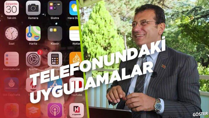 Ekrem İmamoğlu'nun cep telefonunda kurulu olan uygulamalar ve teknolojik alışkanlıkları