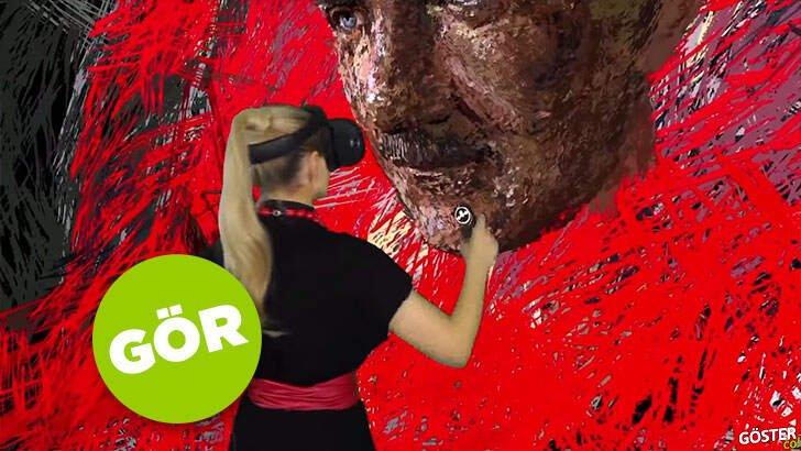 Ekrem İmamoğlu'nun 10 Kasım için hazırlattığı muhteşem dijital Atatürk portresi
