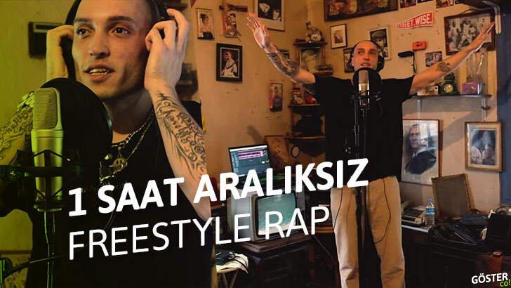 Spade427'den, 1 saat boyunca Türkçe freestyle rap performansı