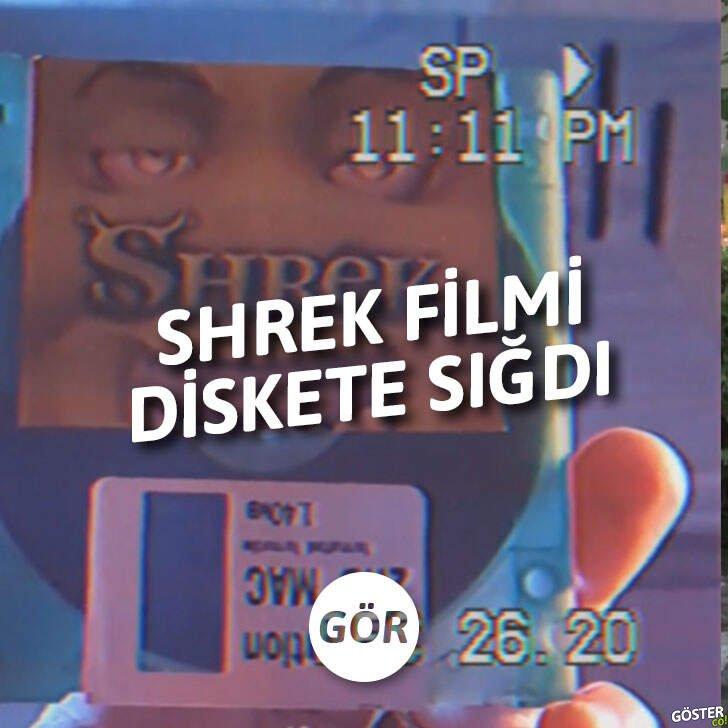 Bir Reddit kullanıcısı, Shrek filmini 1,44 MB'lık diskete sığdırmayı başardı