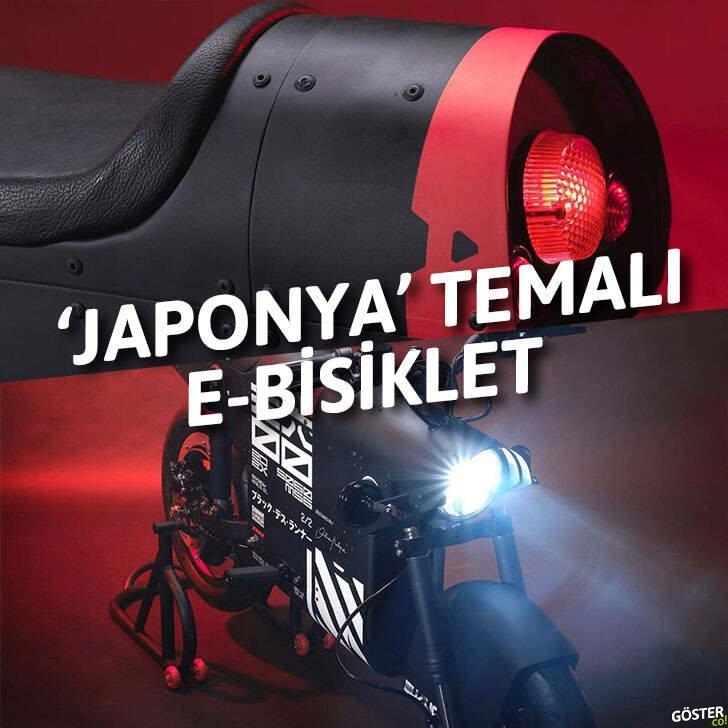 Japonya'dan esinlenen bu e-bisiklet, geçmişe ve geleceğe aidiyetini mükemmel şekilde gösteriyor